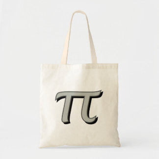 Pi - Gray with Shadow Tote Bag