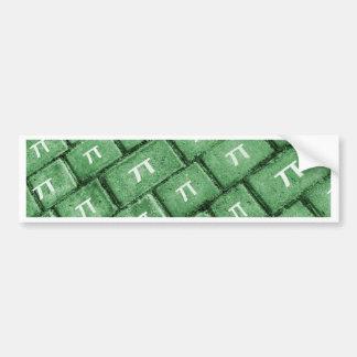 Pi Grunge Style Pattern Bumper Sticker