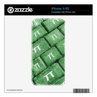 Pi Grunge Style Pattern Decals For The iPhone 4