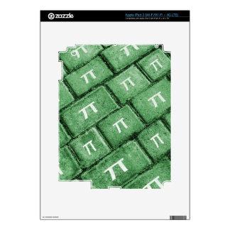 Pi Grunge Style Pattern iPad 3 Skins