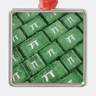 Pi Grunge Style Pattern Metal Ornament