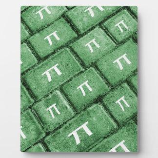 Pi Grunge Style Pattern Plaque