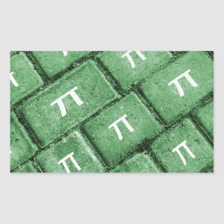 Pi Grunge Style Pattern Rectangular Sticker