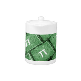 Pi Grunge Style Pattern Teapot