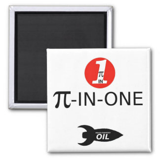 PI-IN-ONE Oil 2 Inch Square Magnet