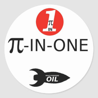 PI-IN-ONE Oil Classic Round Sticker