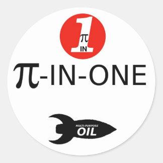 PI-IN-ONE Oil Classic Round Sticker