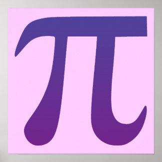Pi in Purple Poster