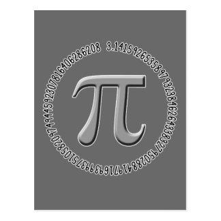 Pi in Silver Postcard