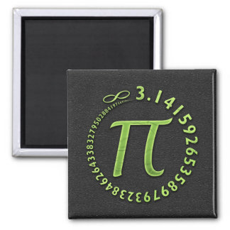 Pi in the round 2 inch square magnet