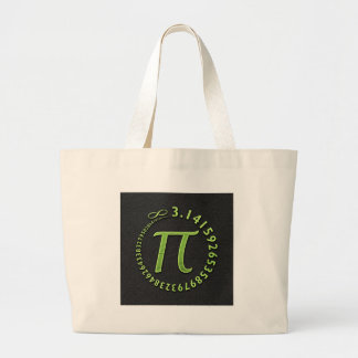 Pi in the round jumbo tote bag
