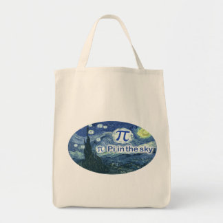 Pi In The Sky Canvas Bags