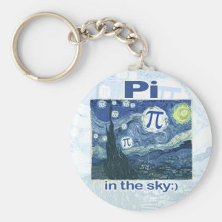 Pi in the Sky by Mudge Studios Basic Round Button Keychain