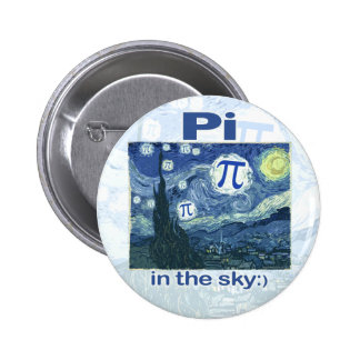 Pi in the Sky by Mudge Studios Pinback Button