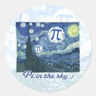 Pi in the Sky Classic Round Sticker