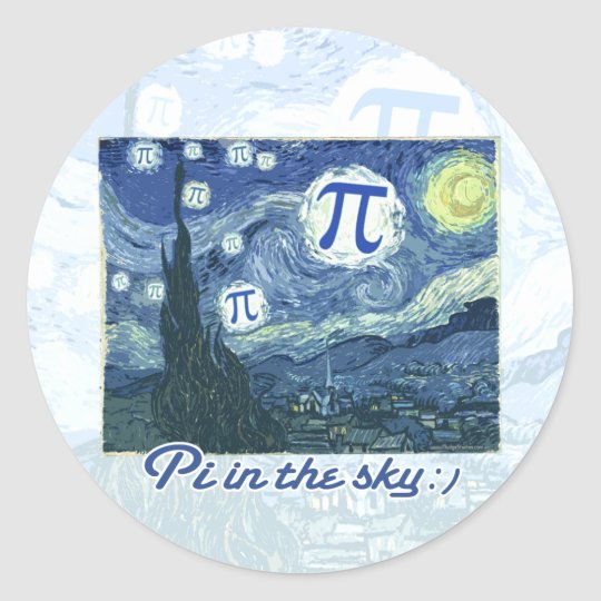 Pi in the Sky Classic Round Sticker