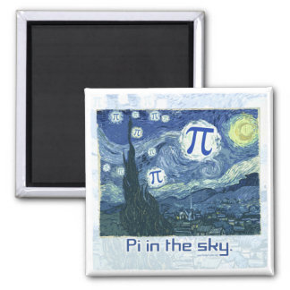 Pi in the Sky Gift Ideas 2 Inch Square Magnet