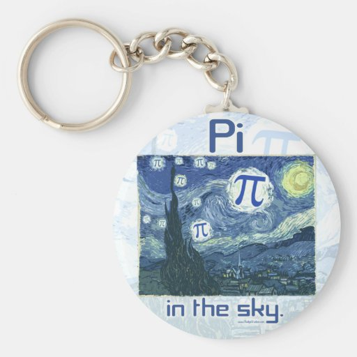 Pi in the Sky Gift Ideas Keychain