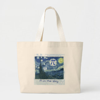 Pi in the Sky Gift Ideas Large Tote Bag