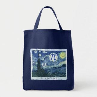Pi in the Sky Grocery Tote Bag