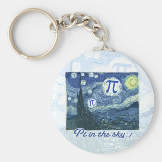 Pi in the Sky Basic Round Button Keychain