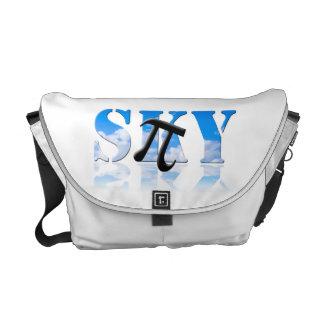 Pi in the Sky Nerd Humor Messenger Bag