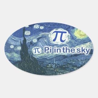 Pi In The Sky Oval Sticker