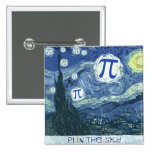Pi in the Sky Pinback Button