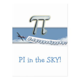 PI IN THE SKY! POSTCARD