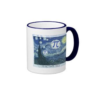 Pi in the Sky Ringer Coffee Mug
