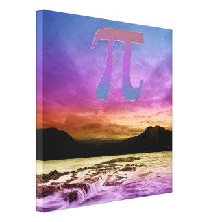 Pi In the Sky Sunset Canvas