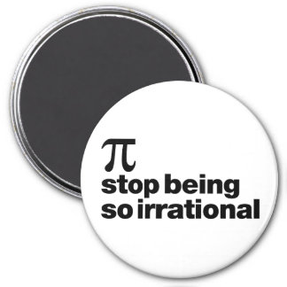 Pi irracional imán redondo 7 cm