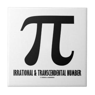 Pi Irrational And Transcendental Number (Math) Ceramic Tile