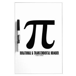 Pi Irrational And Transcendental Number (Math) Dry-Erase Whiteboards