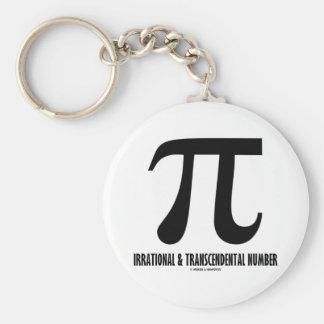 Pi Irrational And Transcendental Number (Math) Keychains