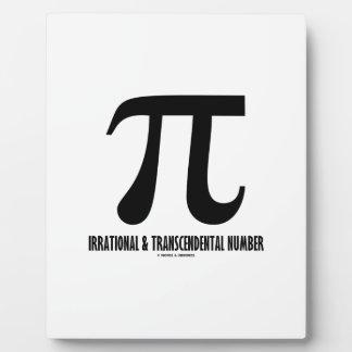 Pi Irrational And Transcendental Number (Math) Plaque