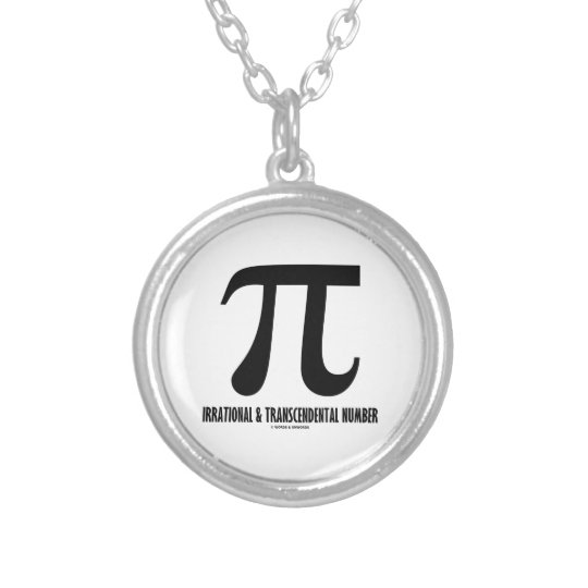 Pi Irrational And Transcendental Number (Math) Silver Plated Necklace