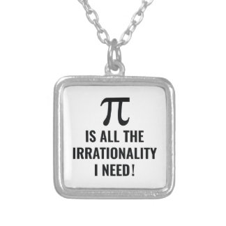 Pi Irrationality Silver Plated Necklace