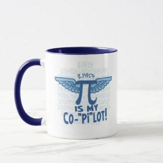 Pi is my copilot by Mudge Studios Mug