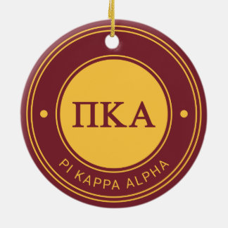 Pi Kappa Alpha | Badge Ceramic Ornament