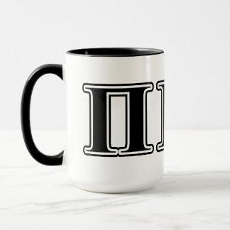 Pi Kappa Alpha Black Letters Mug