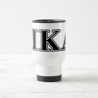 Pi Kappa Alpha Black Letters Travel Mug