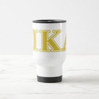 Pi Kappa Alpha Gold Letters Travel Mug