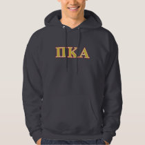 Pi Kappa Alpha Red and Gold Letters Hoodie