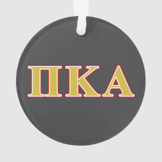 Pi Kappa Alpha Red and Gold Letters Ornament