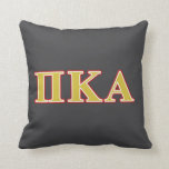 "Pi Kappa Alpha Red and Gold Letters Throw Pillow<br><div class=""desc"">Check out these official Pi Kappa Alpha designs! Personalize your own Greek merchandise on Zazzle.com! Click the Customize button to insert your own name, class year, or club to make a unique product. Try adding text using various fonts &amp; view a preview of your design! Zazzle&#39;s easy to customize products...</div>"