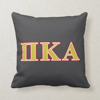 Pi Kappa Alpha Red and Gold Letters Throw Pillow