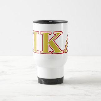 Pi Kappa Alpha Red and Gold Letters Travel Mug