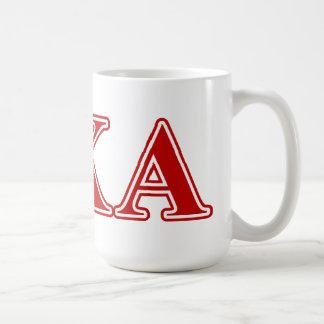 Pi Kappa Alpha Red Letters Coffee Mug
