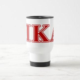 Pi Kappa Alpha Red Letters Travel Mug